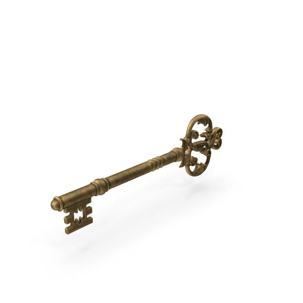 Gold Skeleton Key PNG & PSD Images