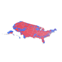 Political Map of the USA PNG & PSD Images