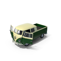 Volkswagen Type 2 Double Cab Pick-Up PNG & PSD Images