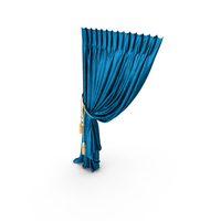 Blue Silk Curtain PNG & PSD Images