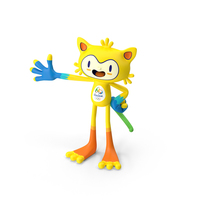 2016 Olympics Rio Mascot Vinicius PNG & PSD Images