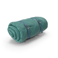 Folded Sleeping Bag Green PNG & PSD Images