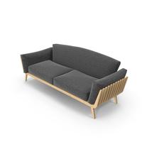 Dark Gray Wood Sofa PNG & PSD Images