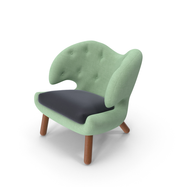 Green Fabric Chair Object