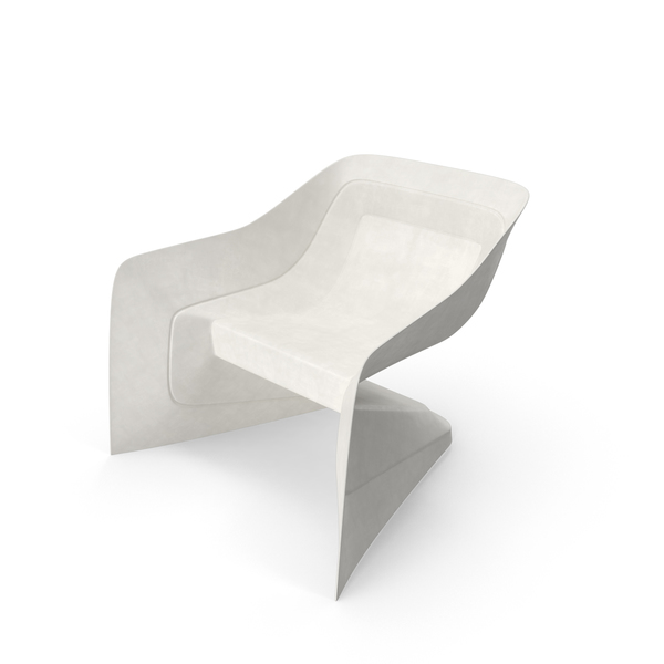 White Plastic Chair Object