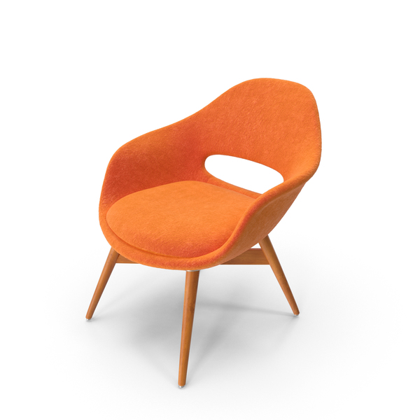 Orange Suede Chair PNG & PSD Images
