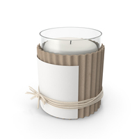 Candle with Twine PNG & PSD Images