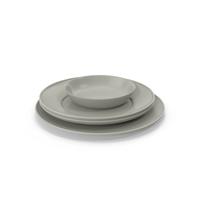Simple Dishware Set PNG & PSD Images