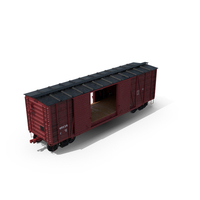 Freight Train Boxcar PNG & PSD Images