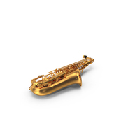 Golden Saxophone PNG & PSD Images
