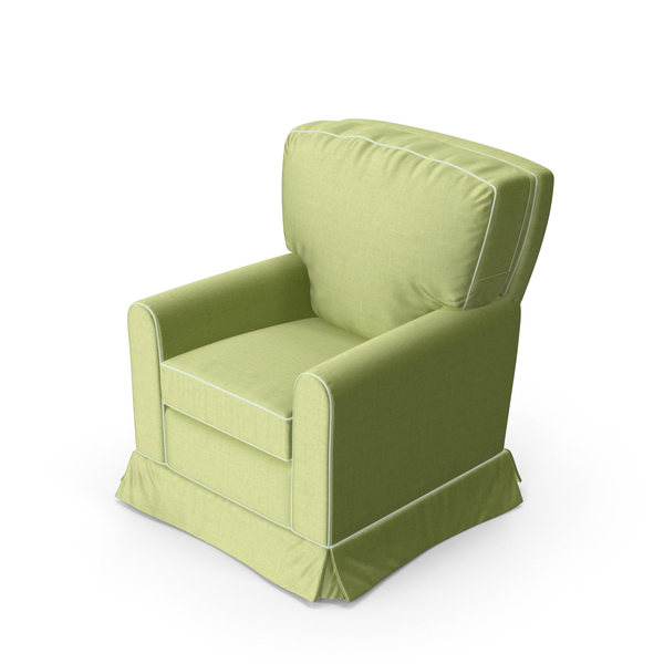 Green Swivel Armchair PNG & PSD Images