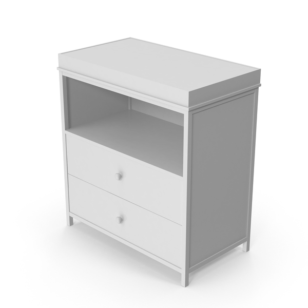 White Changing Table PNG & PSD Images
