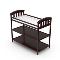 Brown Changing Table PNG & PSD Images