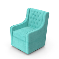 Blue Swivel Armchair PNG & PSD Images