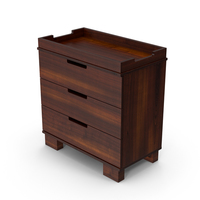 Wooden Changing Table PNG & PSD Images