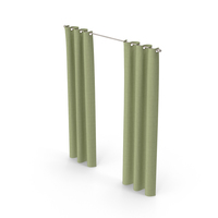 Green Curtains PNG & PSD Images