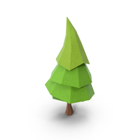 Low Poly Pine Tree PNG & PSD Images