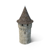 Round Turret with Roof PNG & PSD Images