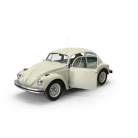 Volkswagen Beetle 1968 White PNG & PSD Images