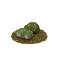 Mossy Rocks PNG & PSD Images