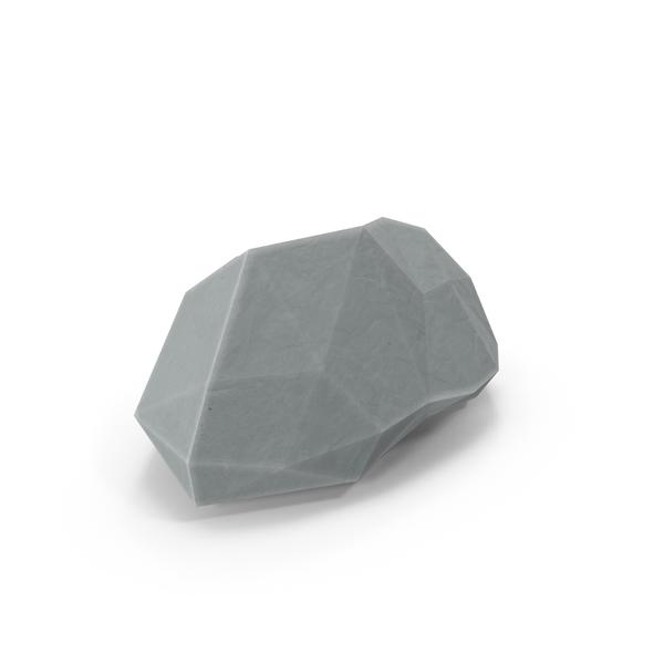 Low Poly Rock Object