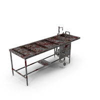 Bloody Autopsy Table PNG & PSD Images