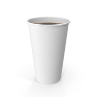 White To-Go Coffee Cup No Lid PNG & PSD Images