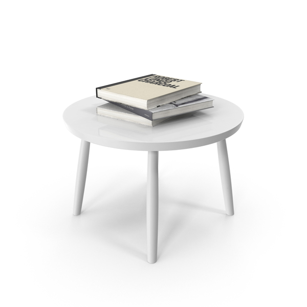 Side Table with Books PNG & PSD Images