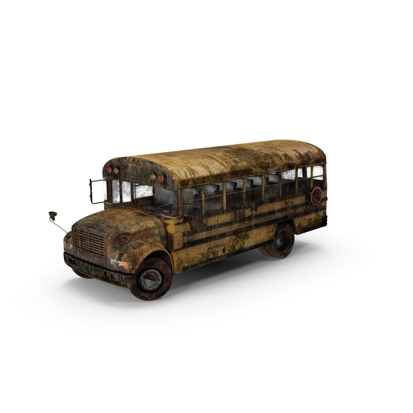 Weathered School Bus Object