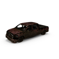 Destroyed Pickup Truck PNG & PSD Images