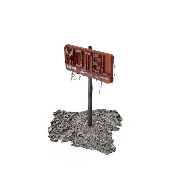 Destroyed Motel Sign PNG & PSD Images