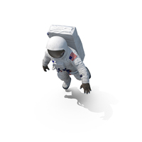 Astronaut NASA Spacesuit A7L Floating PNG & PSD Images