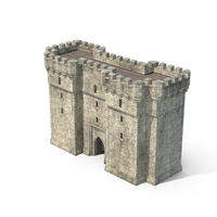 Gatehouse with Open Portcullis PNG & PSD Images