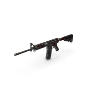 Bloody M4 Assault Rifle PNG & PSD Images
