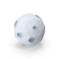 Low Poly Moon PNG & PSD Images