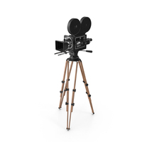 Vintage Video Camera and Tripod PNG & PSD Images