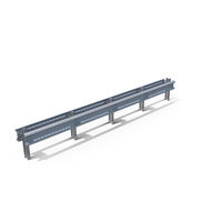 Highway Guardrail Middle Section PNG & PSD Images