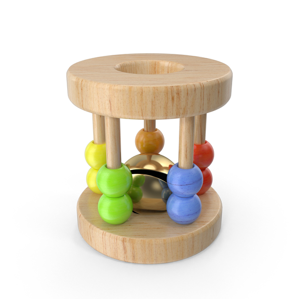 Wooden Baby Rattle Object