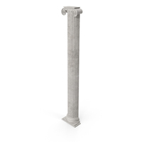 Ionic Pilaster  (Greco-Roman) PNG & PSD Images