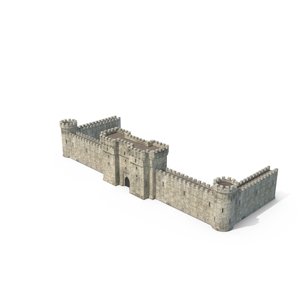 Castle Wall with Portcullis PNG & PSD Images