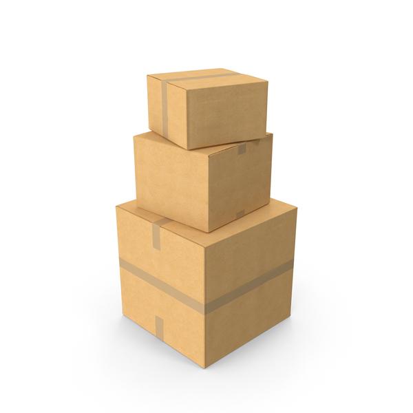 Cardboard box stack Object