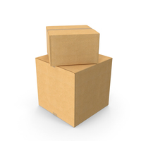 Two Cardboard Boxes PNG & PSD Images