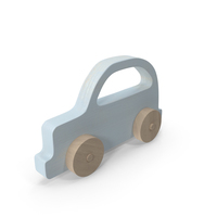 Baby Wooden Car Light Blue PNG & PSD Images