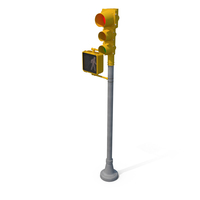 Stop Light Walk Sign with Red Light PNG & PSD Images
