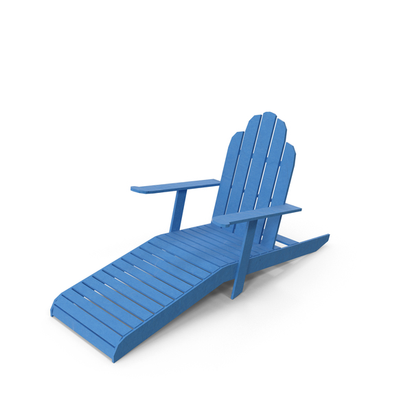 Low Poly Sun Bathing Chair Object
