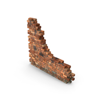 Dirt Brick Wall Section PNG & PSD Images