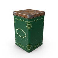 Vintage Coffee or Tea Tin PNG & PSD Images
