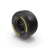 Formula One Car Style Tire PNG & PSD Images