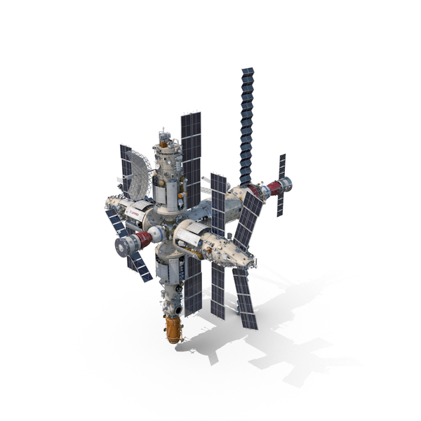 Mir Space Station Object