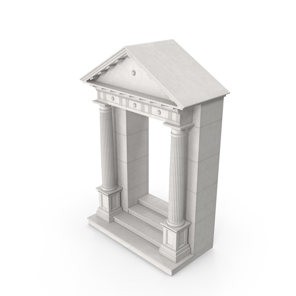 Greco-Roman Door With Pediment PNG & PSD Images